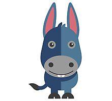 Cute cartoon donkey Photographic Print
