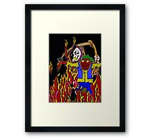 The Irish rapper . Framed Print