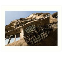 Wrought Iron, Glass and Stone Plus a Genius Imagination Art Print