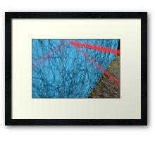 Spider Web in the Shadows Framed Print