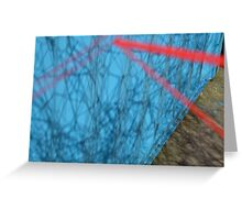 Spider Web in the Shadows Greeting Card