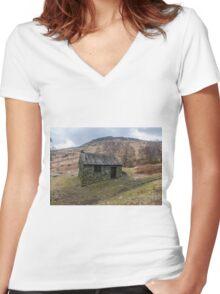 Ashness Bridge Shelter Women's Fitted V-Neck T-Shirt