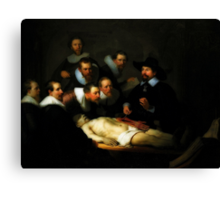 The Anatomy Lesson Of Dr. Nicolaes Tulp Canvas Print