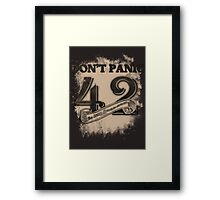the response of any hitchhiker Framed Print