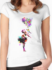 A Bird And The Violinist Women's Fitted Scoop T-Shirt