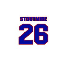 National football player Omar Stoutmire jersey 26 Photographic Print