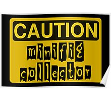 Caution Minifig Collector Sign  Poster