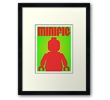 Retro Large Black Minifig  Framed Print