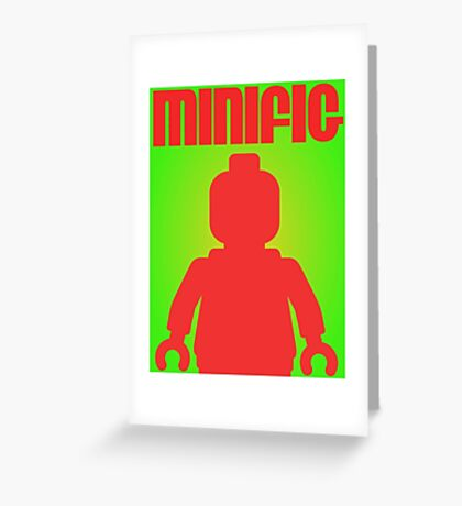 Retro Large Black Minifig  Greeting Card