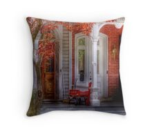 A look back in time Throw Pillow
