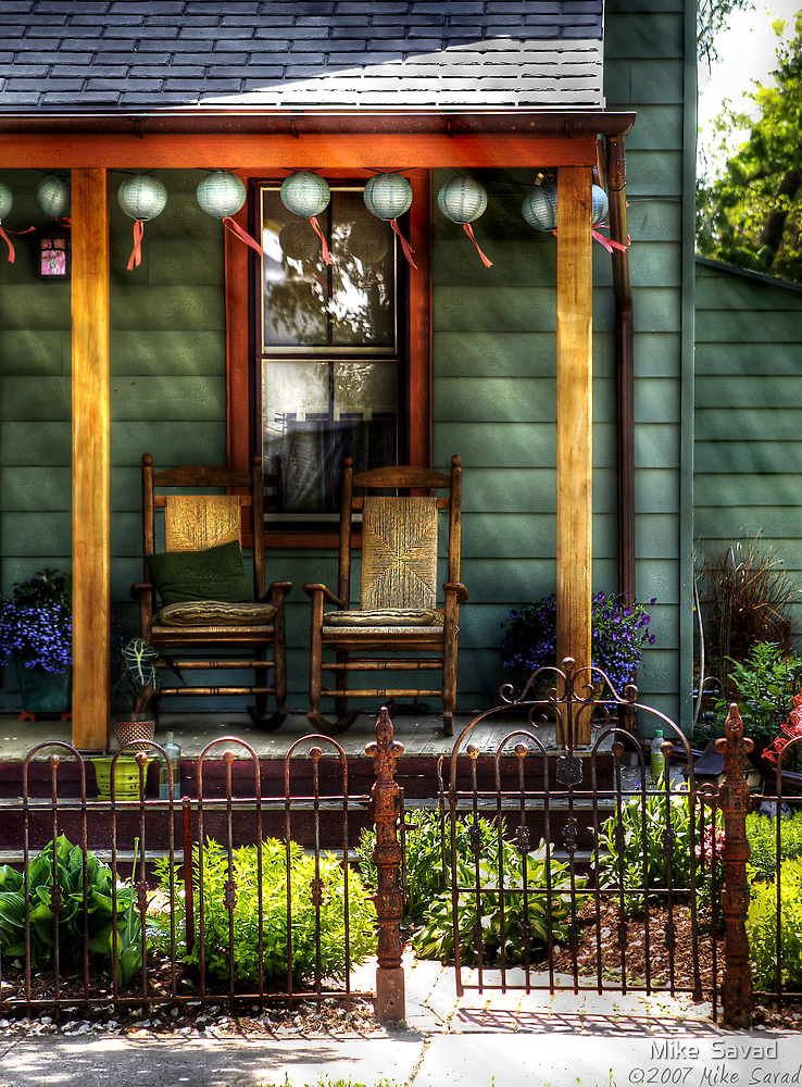Two rocking chairs by Mike  Savad