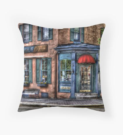 Cafe America Throw Pillow