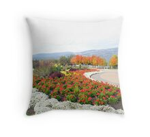 Summer Blooms Into Fall Throw Pillow