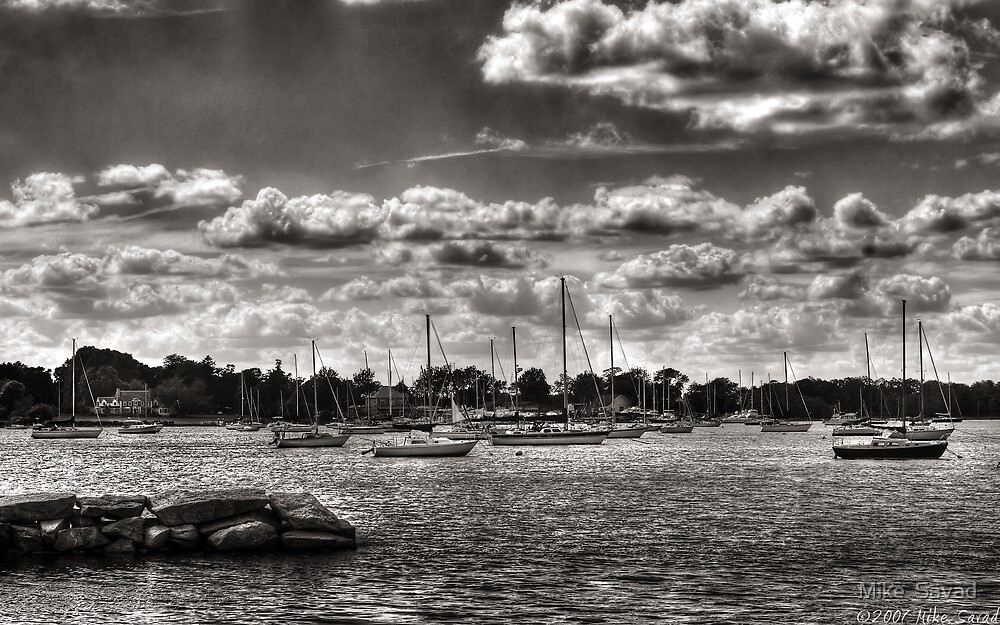 Boats in the Harbour by Mike  Savad