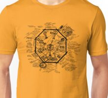 LOST Swan Station Blast Door Map (Black) Unisex T-Shirt