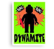 Dynamite Minifigure  Canvas Print