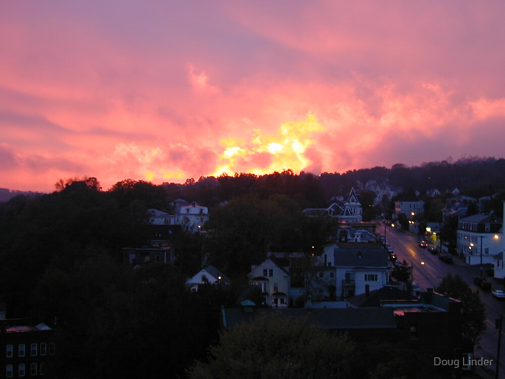 Haverhill, MA at sunset by Doug Linder