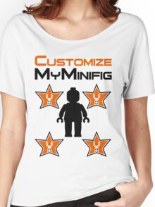 Minifig [Black] with Customize My Minifig Star Logos Women's Relaxed Fit T-Shirt