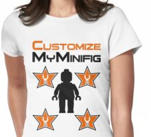 Minifig [Black] with Customize My Minifig Star Logos Womens Fitted T-Shirt