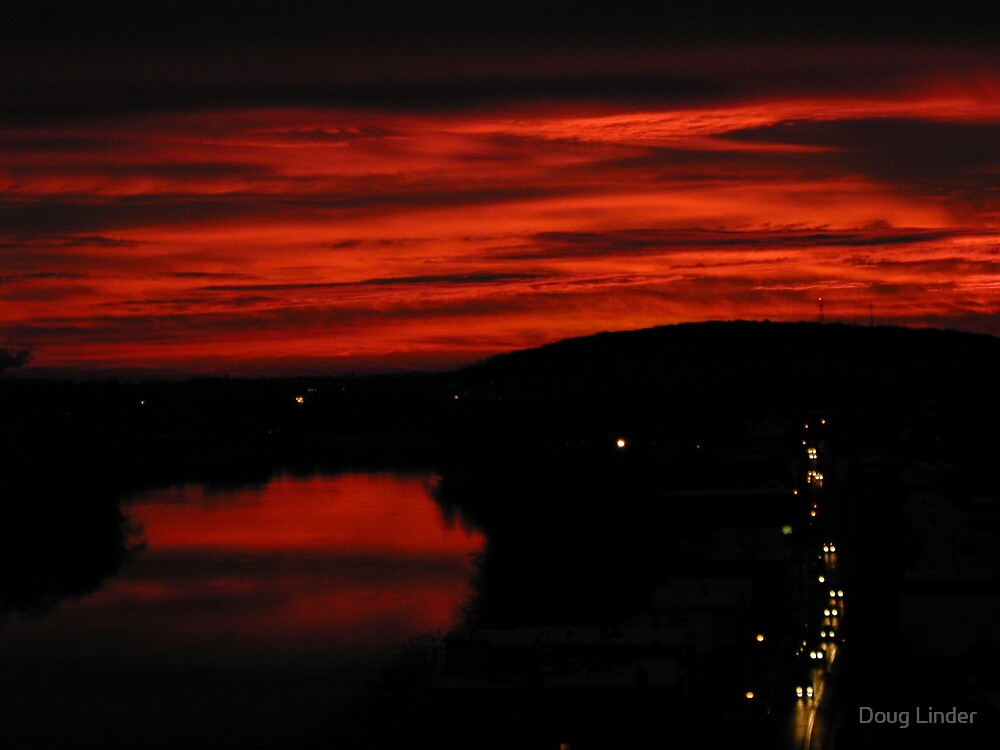 Haverhill, MA at sunset #2 by Doug Linder