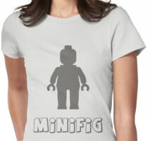 Minifig [Dark Grey]  Womens Fitted T-Shirt