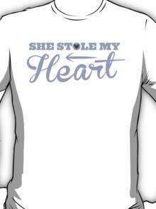 She stole my HEART with arrow left T-Shirt