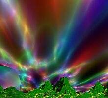Sunrise on Psychedelica. by AlienVisitor