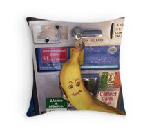 Domesticated California Banana Awaits Collect Call From Mexico Throw Pillow
