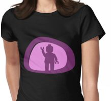View from a Car Wing Mirror  Womens Fitted T-Shirt
