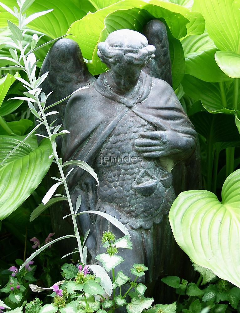 St. Michael Among Hosta by jenndes