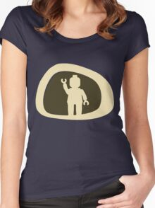 View from a Car Wing Mirror Women's Fitted Scoop T-Shirt