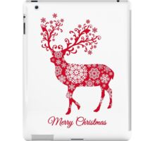 Christmas deer with snowflakes pattern iPad Case/Skin