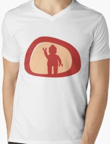 View from a Car Wing Mirror  Mens V-Neck T-Shirt