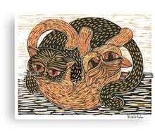 Ying-Yang cats Canvas Print