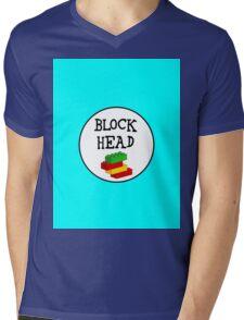 BLOCK HEAD Mens V-Neck T-Shirt