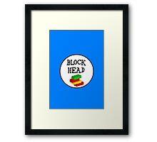 BLOCK HEAD Framed Print