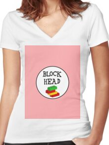 BLOCK HEAD Women's Fitted V-Neck T-Shirt