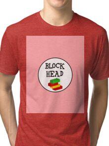 BLOCK HEAD Tri-blend T-Shirt