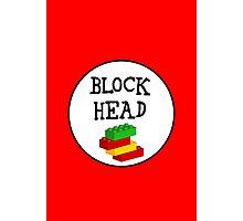 BLOCK HEAD Photographic Print