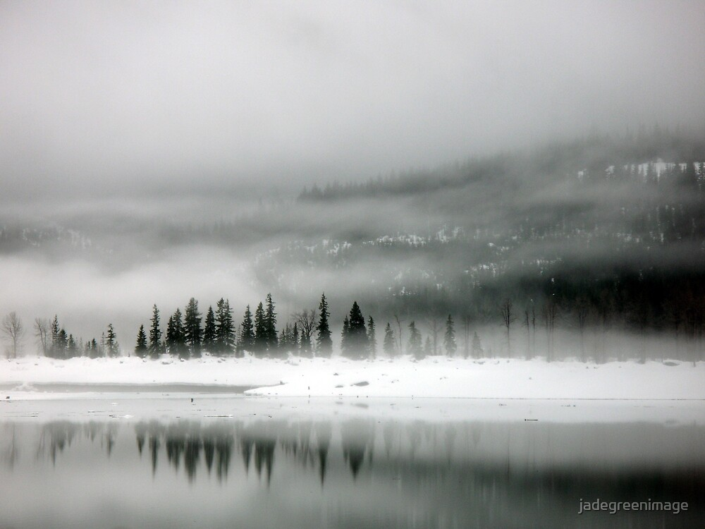 Lake Kecheelus Snow #1 by jadegreenimage