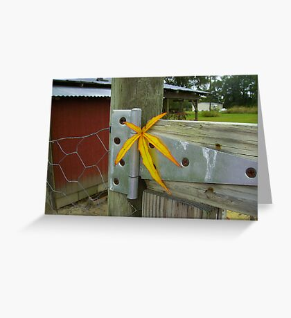 Country Leaf Greeting Card