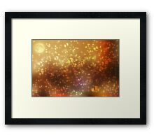 Universe abstract yellow background Framed Print