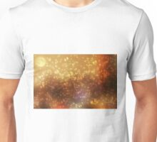 Universe abstract yellow background Unisex T-Shirt