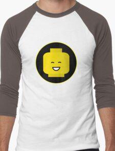MINIFIG HAPPY FACE Men's Baseball ¾ T-Shirt