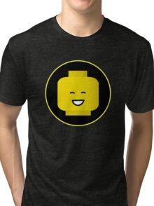 MINIFIG HAPPY FACE Tri-blend T-Shirt