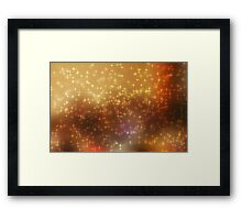 Stars abstract background Framed Print
