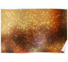Stars abstract background Poster