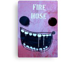 Borrowed art 1: Fire hose face Canvas Print