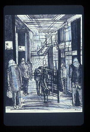 The L Train Station by Enrico Thomas