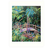 Japanese Bridge Tamborine Mountain Botanical Gardens Art Print